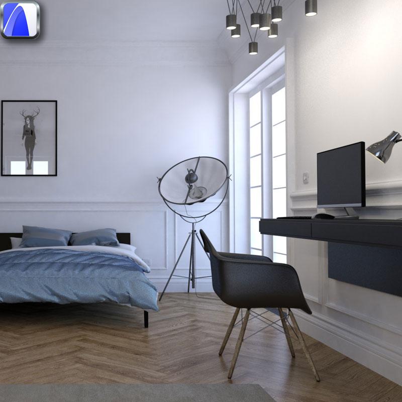ArchiCAD Cinerender 03 - Interior