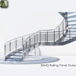 3D Railing Panel Outer