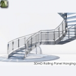 3D Railing Panel Hanging