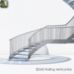 3D Railing Vertical Bar