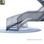 3D Railing Frameless