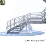 3D Railing Horiz A