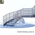 3D Railing Horiz B
