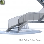 3D Railing Post on Panel A