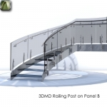 3D Railing Post on Panel B