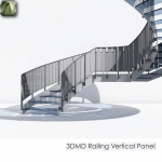 3D Railing Vertical Element