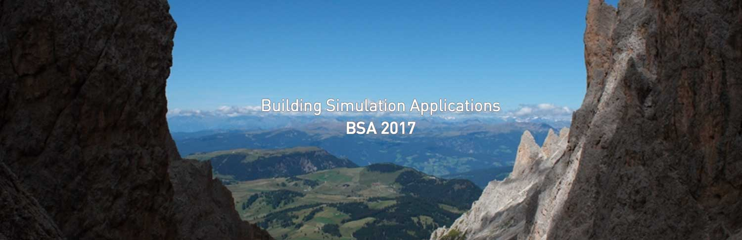 Building Simulation Applications BSA2017