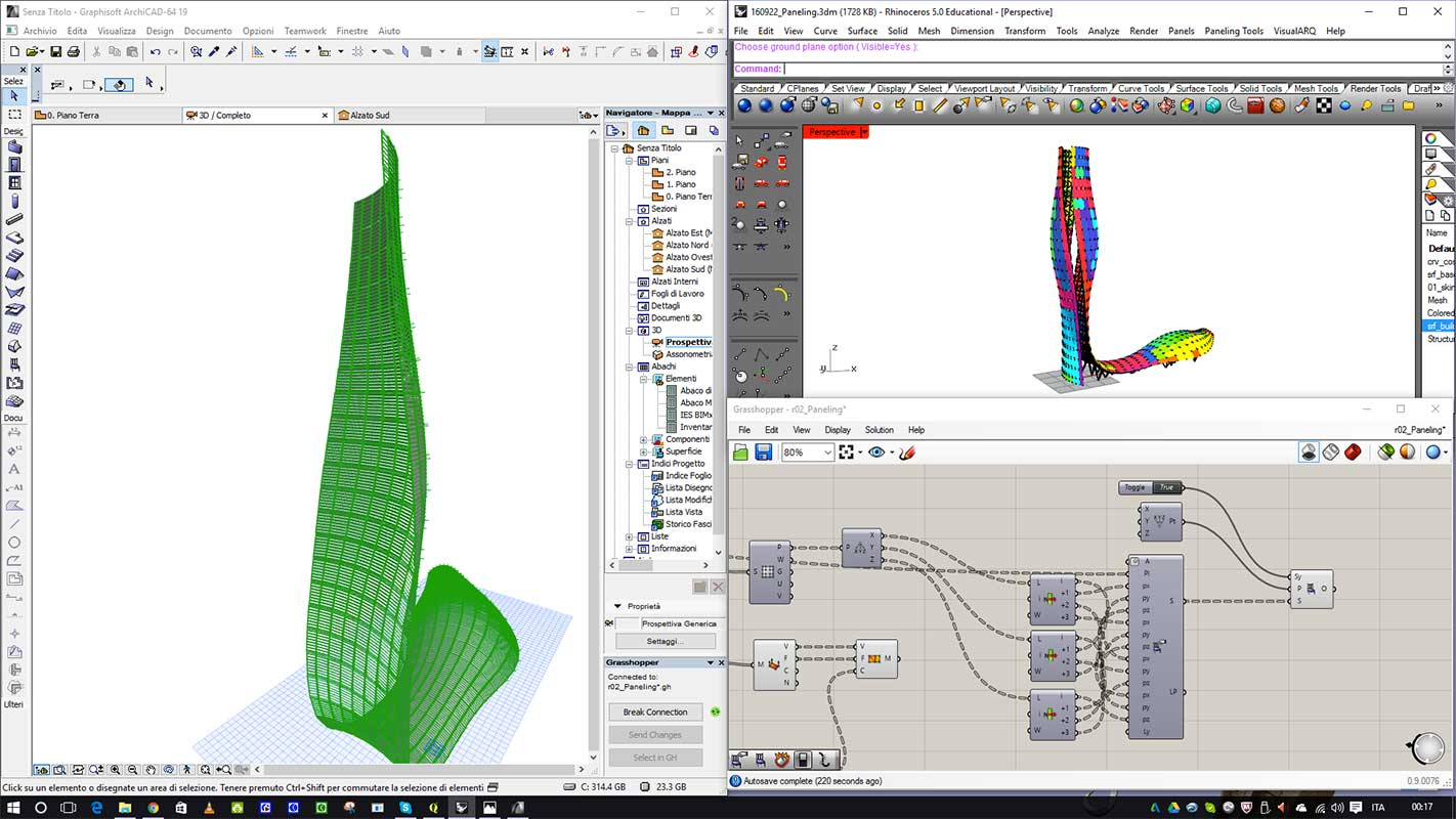 Designing the reality - Rhino-Grasshopper-Archicad connection