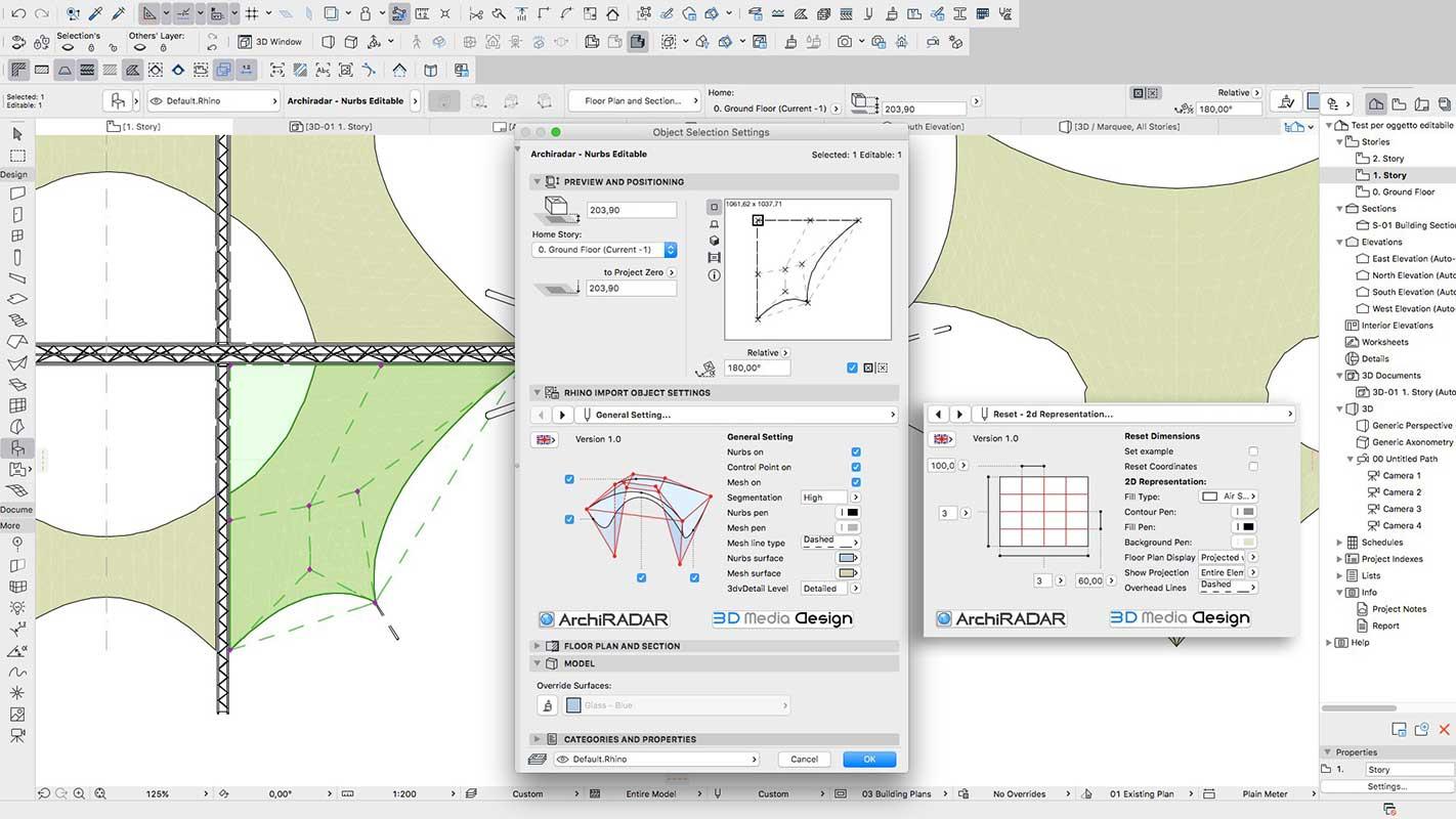 Archicad 20 Nurbs Editable Object