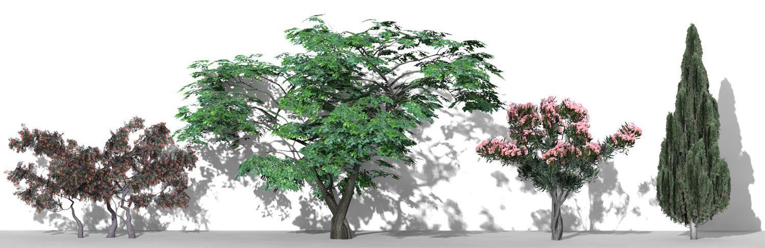 3D Parametric Trees - Volume 08