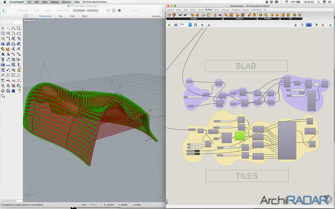 Grasshopper Archicad Extruded surface 03