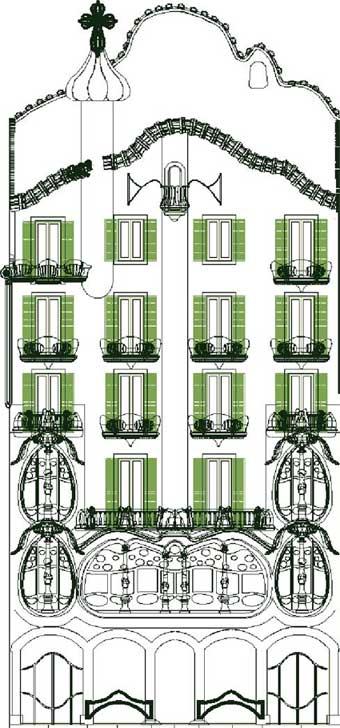 Modellare casa battlo di gaud con archiforma - Disegno pianta casa ...