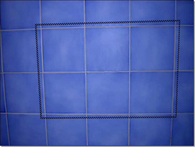 per ridurre la percezione della ripetizione non voglio fare una texture composta da una sola piastrella ma prender le sei centrali