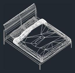 trasformare un file dwg 3d in oggetto di libreria per archicad - Letto Matrimoniale Dwg