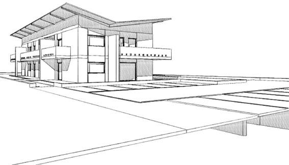 il render schizzo di archicad. Black Bedroom Furniture Sets. Home Design Ideas